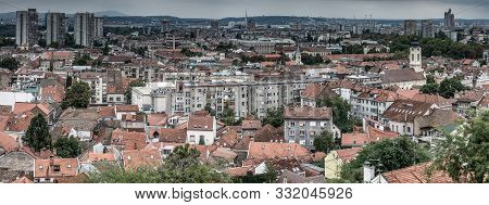 Above View Of The Old Zemun Quarter And New Belgrade (novi Beograd) On Background