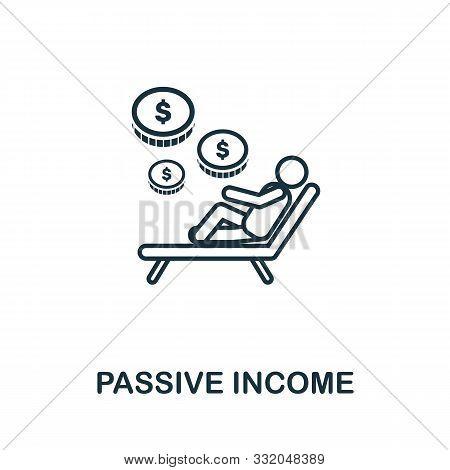 Passive Income Icon Outline Style. Thin Line Creative Passive Income Icon For Logo, Graphic Design A