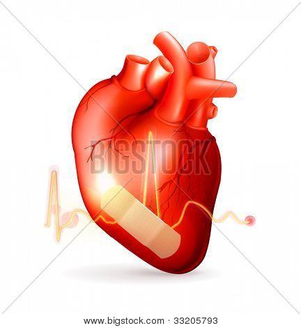 Damaged heart, bitmap copy