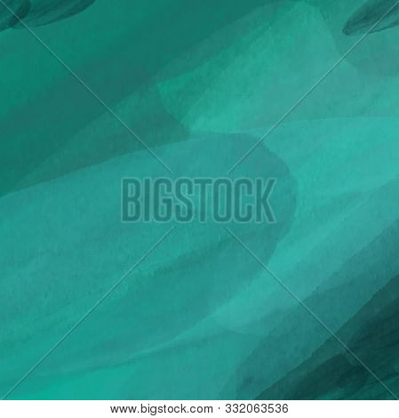 Abstract Background In Greenish, Blue And Turquoise Colors. Imitation Of Watercolor, Made With Wide