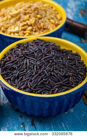 Black Long Rice From Camargue, Provence, France