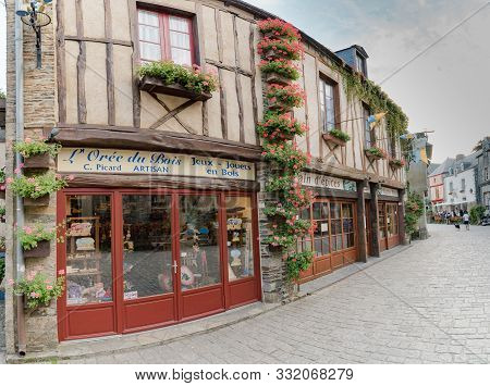 Detail View Of Historic Architecture And Buildings In The Picturesque French Village Of Rochefort-en