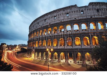 Colosseum at night, Rome - Italy