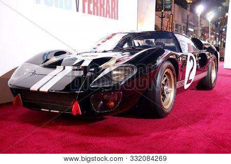 1966 Ford GT40 MKII at the Los Angeles premiere of 'Ford V Ferrari' held at the TCL Chinese Theatre in Hollywood, USA on November 4, 2019.