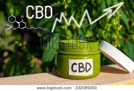 Cannabis Cream Of Formula Cbd Cannabidiol. Business Marijuana Leaves Cannabis Cream Stock Success Ma