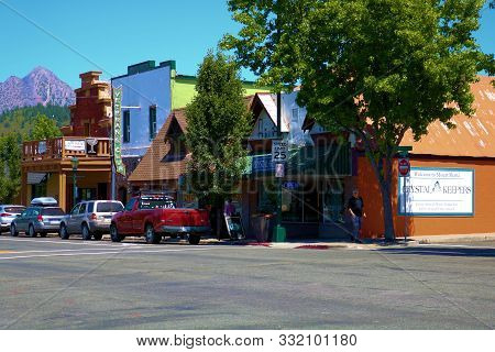 July 19, 2019 In The Town Of Mt Shasta, Ca:  Mystical Metaphysical Spiritual Stores Situated In Down
