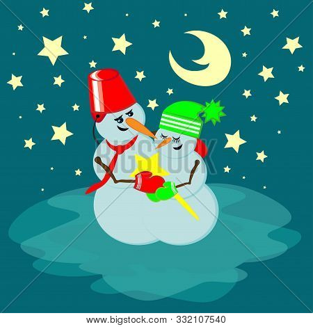 Ill Give You A Star - A Snowman-star Gives A Snowman-star.