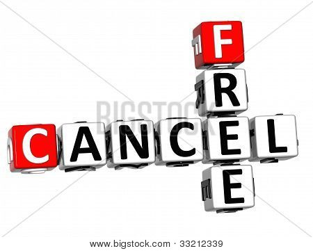 3D Free Cancel Crossword