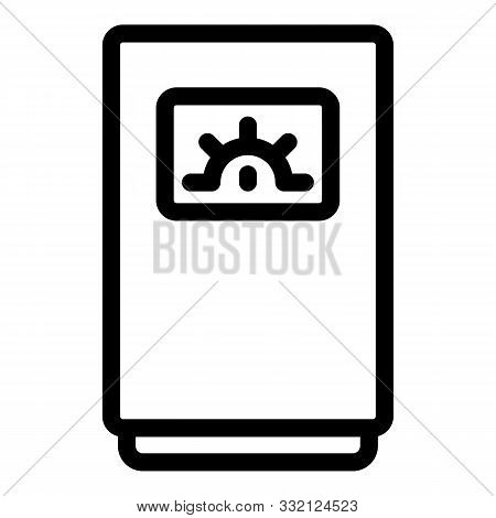 Boiler With Analog Indicator Icon. Outline Boiler With Analog Indicator Vector Icon For Web Design I
