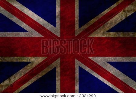 Worn British Flag