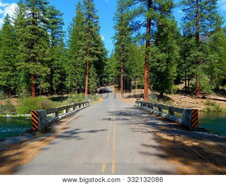 Crossing Downriver - Lower Bridge Crossing Over The Metolius River On Fr12 - North Of Camp Sherman,