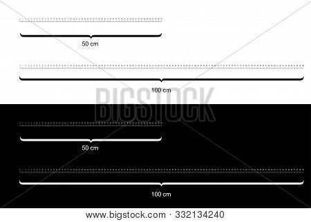 Rulers  Metric Rulers. Scale For A Ruler In Centimeters. Centimeters Measuring Scale Cm Metrics Indi