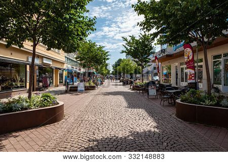 Aland Islands, Mariehamn - Finland - August 06, 2019: City Center Of Mariehamn, Aland Archipelago, F