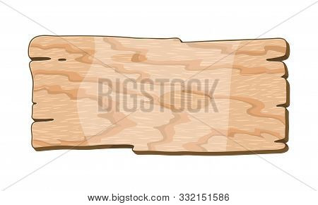 Light Brown Poplar, Cottonwood Texture, Background. Empty Wooden Banner, Board. Sample For Furniture