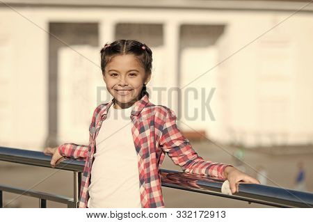 Leisure Options. Free Time And Leisure. Girl Cute Kid Urban Background. Activities For Teenagers. Va