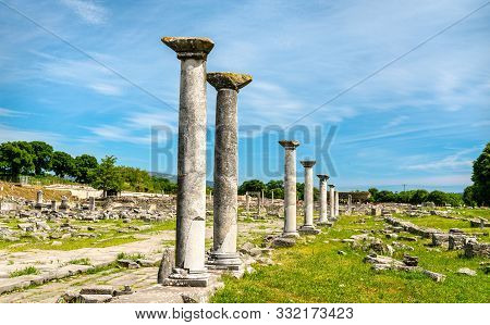 Ruins Of The Ancient City Of Philippi. Unesco World Heritage In Macedonia, Greece