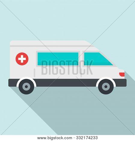 Urgent Ambulance Icon. Flat Illustration Of Urgent Ambulance Vector Icon For Web Design