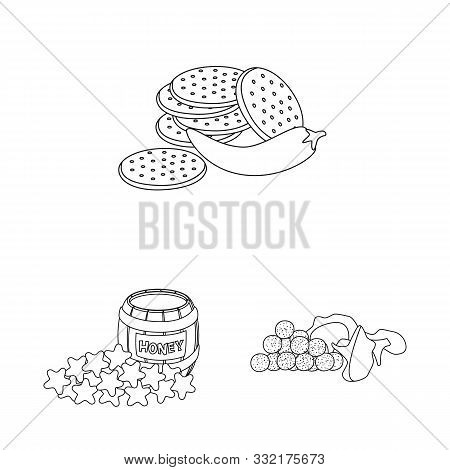 Isolated Object Of Taste And Crunchy Symbol. Collection Of Taste And Cooking Stock Vector Illustrati