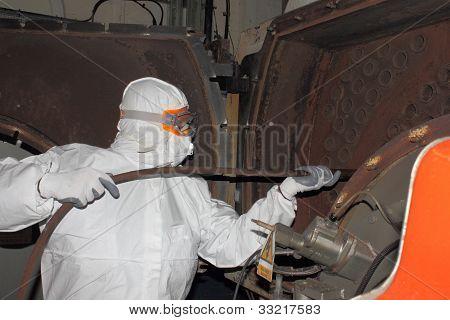 Industrial boiler clean