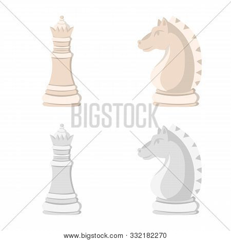 Vector Design Of Checkmate And Thin Logo. Collection Of Checkmate And Target Vector Icon For Stock.