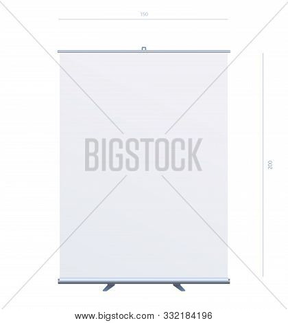 Roll Up Banner Stand On Isolated Clean Background02