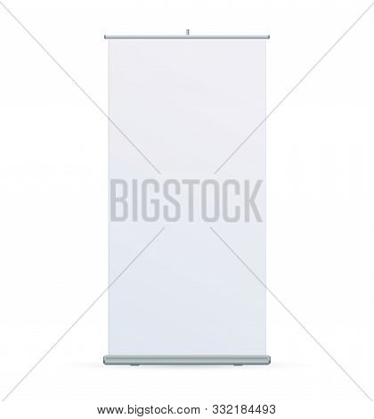 Roll Up Banner Stand On Isolated Clean Background04