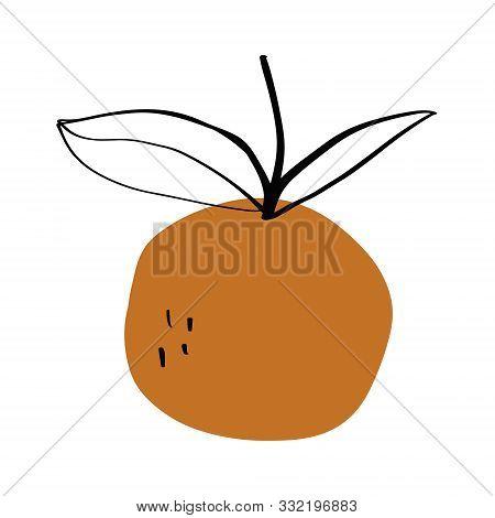 Modern Orange Fruit Terrae Modern Geometric Texture Poster Terracotta Floral Art Print Painting Fash