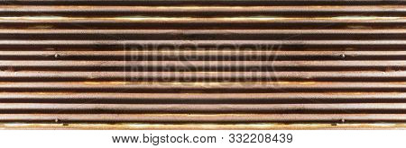 Old Rusty Zinc Wall Texture And Background.