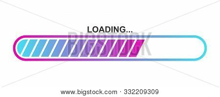 Colorful Vector Loading Icon. Abstract Progress Loading Bar Isolated. Bright Download Sign. Vector L