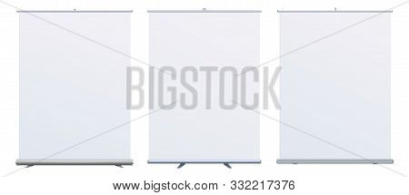 Roll Up Banner Stand On Isolated Clean Background08