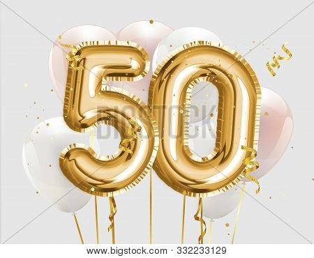 ᐈ 50th birthday invitation templates stock images, Royalty Free 50th  birthday gold backgrounds | download on Depositphotos®