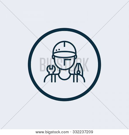 Mechanic Icon Isolated On White Background From Motor Sports Collection. Mechanic Icon Trendy And Mo