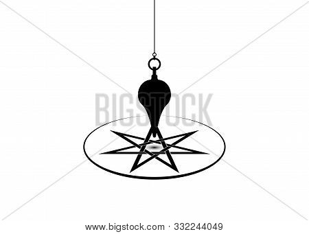 Pendulum For Using Asking Questions. Esoteric Pendulum Magic For Divination And Astrology Wheel, Sev