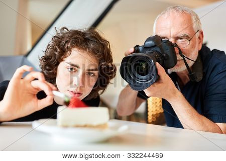 Professional food photographer and assistant in food styling