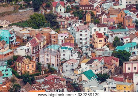 Antananarivo Cityscape, Tana, Capital Of Madagascar, French Name Tananarive And Short Name Tana, Poo