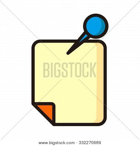 Note Icon Isolated On White Background From Workspace Support Collection. Note Icon Trendy And Moder