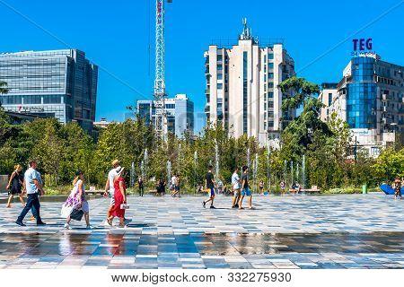 Skanderbeg Square Buildings In Tirana