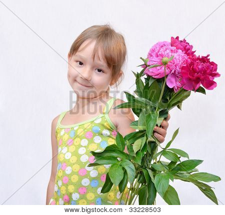 Child And Flowerses