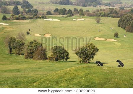 Golf Course At Worthing. Sussex. UK