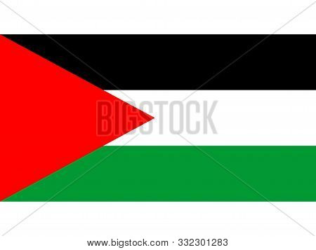 A Flag Of Palestine Background Illustration Large File. Palestine National Fabric Flag Textile Backg