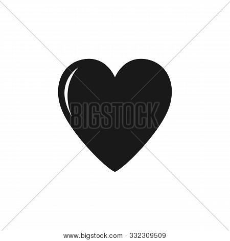Heart Icon. Heart Icon Black Isolated With White Background. Heart Icon Eps. Heart Icon Image. Heart