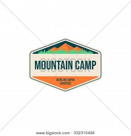 Vintage Outdoor Camp Badges And Logo Emblems Vector Design