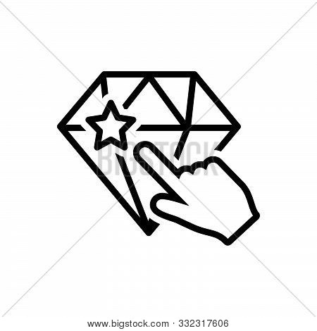 Black Line Icon For Perfectionist Carve Etch Excision