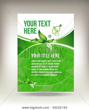 Eco green flyer design