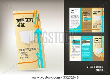 retro tri fold brochure