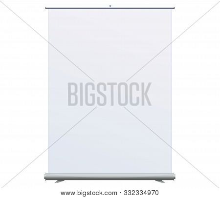 Roll Up Banner Stand On Isolated Clean Background11