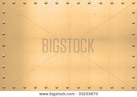 Vintage Gold Sheet, Riveted Edges