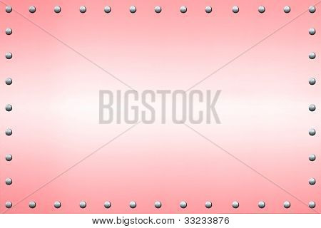 Pink Sign Background with Rivets