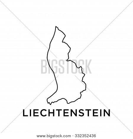 Liechtenstein Map Vector Design Template Icon Trendy