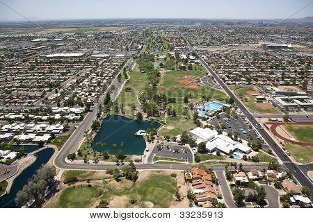 Greenbelt Area In Scottsdale, Arizona